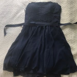 Strapless Navy Cocktail dress